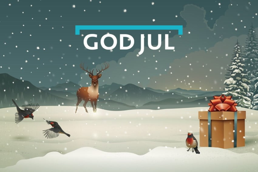 God jul illustrasjon
